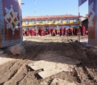 What inspired YYEF to take on the Debate-Courtyard-Repaving project in 2012 at Langyi Monastery (a before picture)