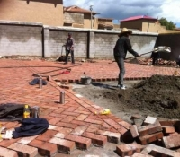 Our project making progress in 2012 at Langyi Monastery.